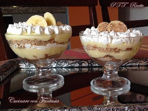 Bicchierini di crema e banane 2