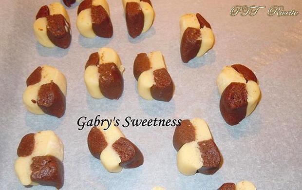 Biscotti a scacchi vaniglia e cacao 3