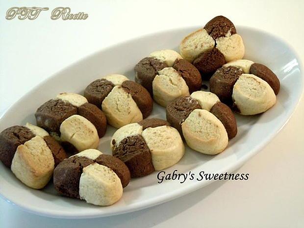 Biscotti a scacchi vaniglia e cacao