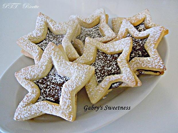 Biscotti a stella con Nutella