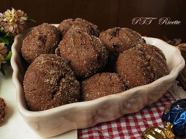 Biscotti al cacao con uvetta 8