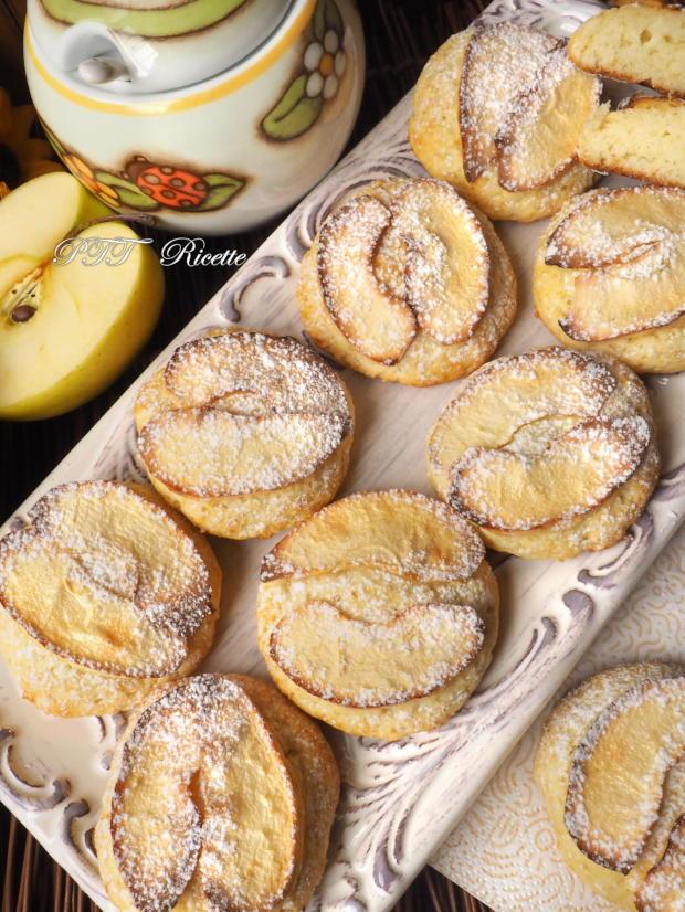 Biscotti alla ricotta con mele 8