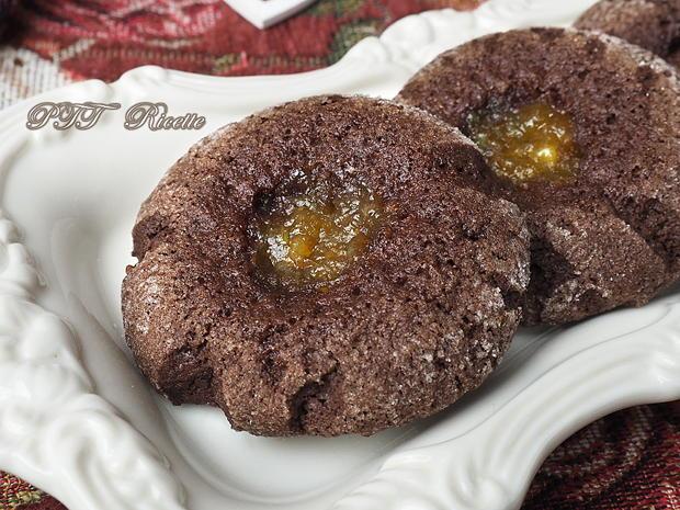 Biscotti senza glutine al cacao con marmellata 15