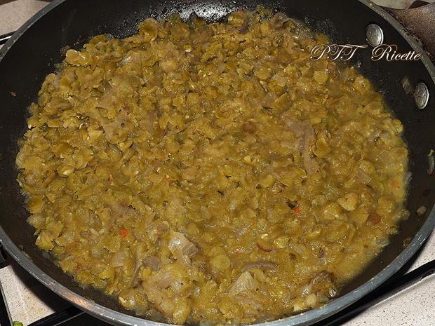 Bocconcini di soia con crema di piselli 2