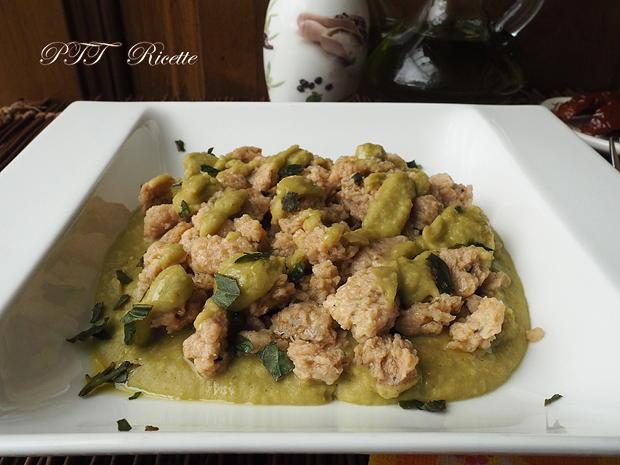Bocconcini di soia con crema di piselli 5