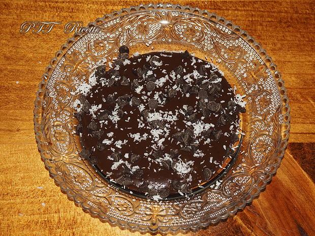 Budino di riso all'arancia e cacao su crema al cacao 5