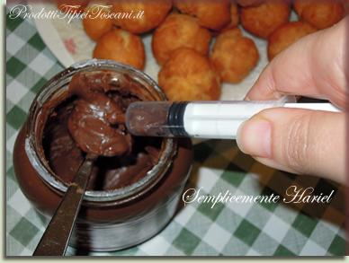 Castagnole ripiene di Nutella 6