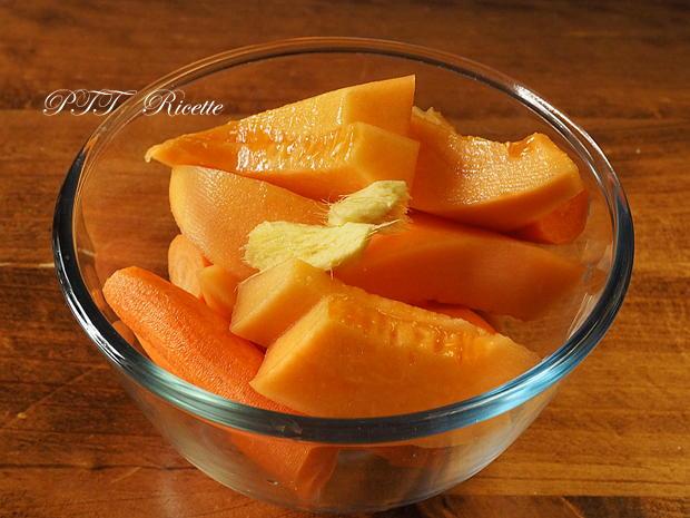 Centrifugato di carote, melone e zenzero 1