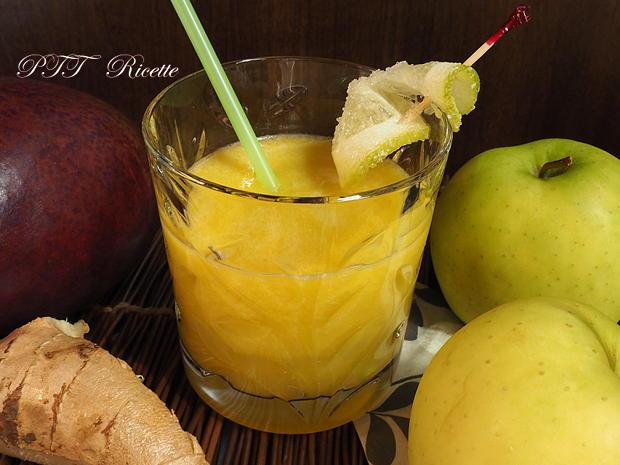 Centrifugato di mela, mango e zenzero