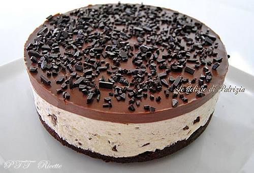 Cheesecake alla stracciatella e cioccolato 1