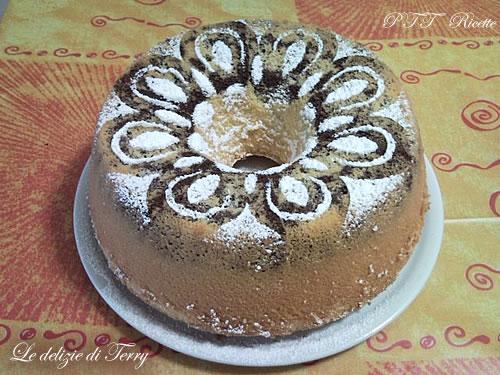 Chiffon cake bicolore 1