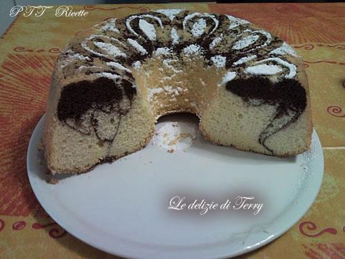 Chiffon cake bicolore 3