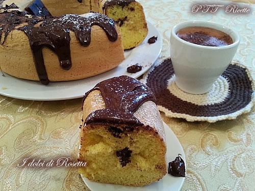 Ciambella cascata di cioccolato 2