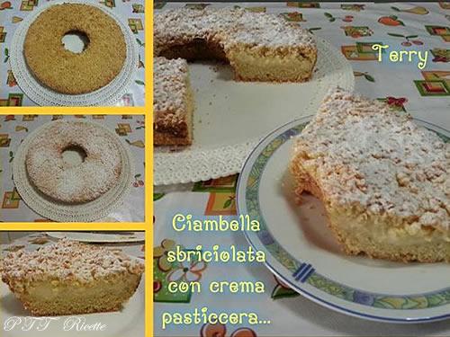 Ciambella sbriciolata con crema pasticcera