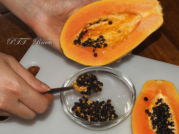 Come tagliare la papaya 4
