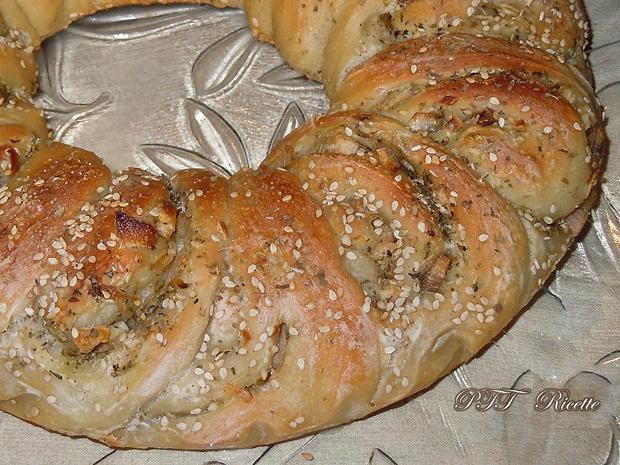 Corona di pane con cipolle 7
