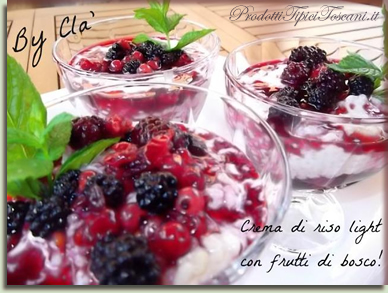 Crema di riso light con frutti di bosco