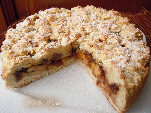 Crostata senza burro ripiena di mele e cioccolato 2