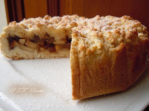 Crostata senza burro ripiena di mele e cioccolato 3