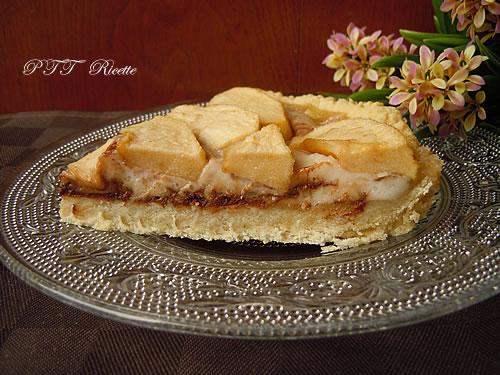 Crostata vegana di mele, cioccolato e crema al cocco