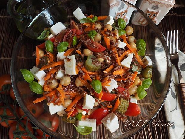 Insalata di ceci con riso, pomodori e mozzarella 2