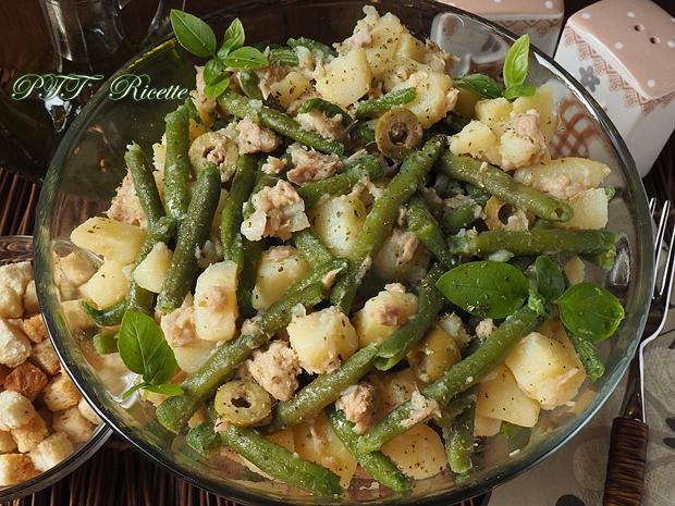 Insalata fresca di fagiolini, tonno, patate e olive 3