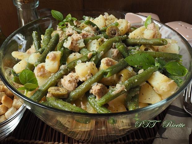 Insalata fresca di fagiolini, tonno, patate e olive 4