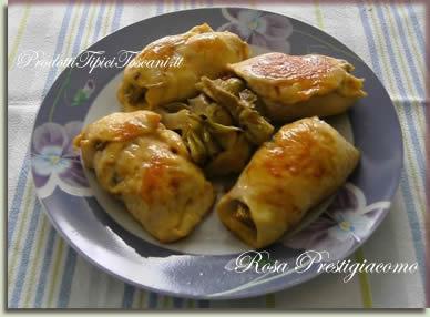 Involtini di pollo con carciofi