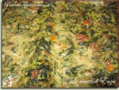 Lasagna bianca con spinaci