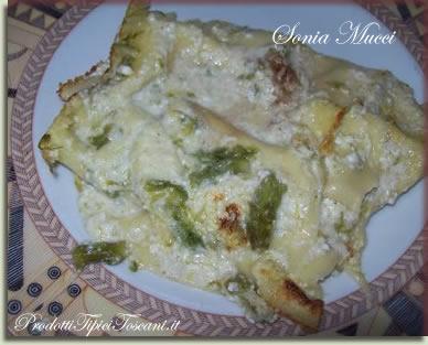 Lasagne con asparagi, ricotta e noci