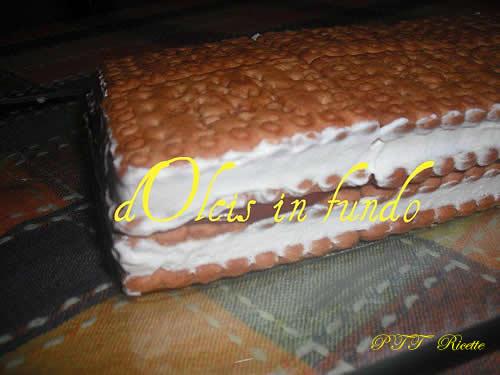Mattonella con Nutella e crema al latte