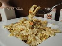 Pasta ai fiori di zucca e parmigiano