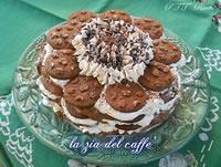 Torta biscottata con nutella e panna
