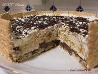 Torta di biscotti con Nutella, panna e mascarpone