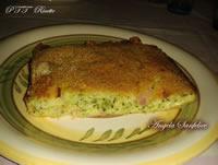 Tortino di zucchine al forno con mozzarella e cotto