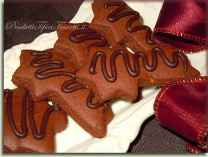 Biscotti al cioccolato natalizi