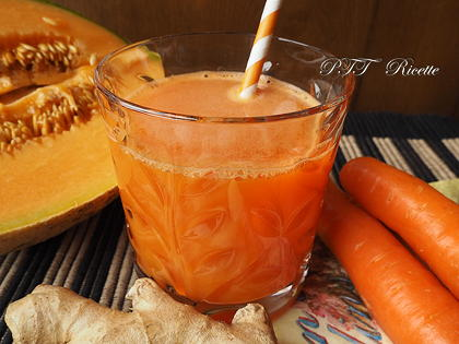Centrifugato di carote, melone e zenzero