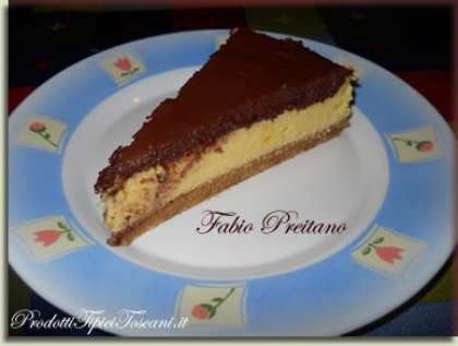 Cheesecake con mousse al cioccolato