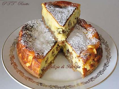 Cheesecake di ricotta e uvetta al forno