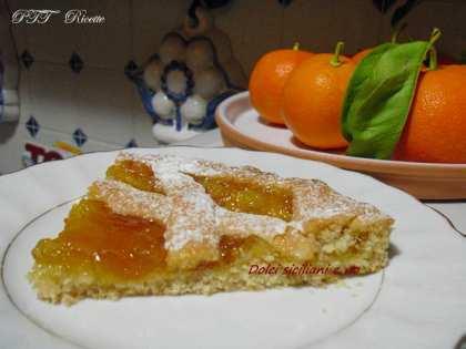 Crostata con marmellata di arance amare