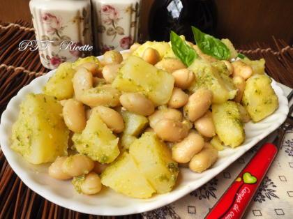 Insalata di patate, fagioli e pesto - Insalata estiva