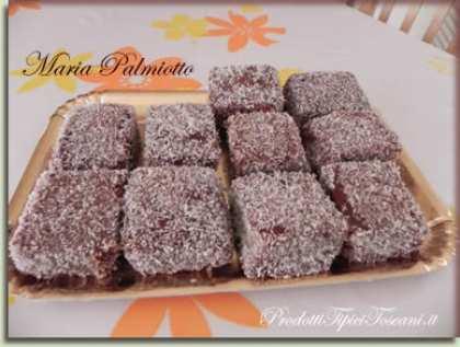 Lamingtons dolcetti al cioccolato e cocco