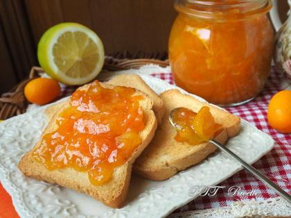 Marmellata di mandarini cinesi Kumquat e limoni
