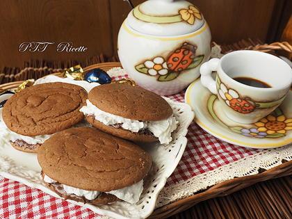 Merendine di farina di castagne con Nutella e panna
