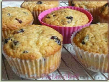 Muffin ai mirtilli rossi essiccati
