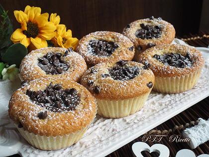 Muffin al cocco con crema di nocciole