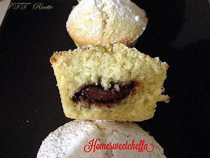 Muffin delicati e morbidosi al cocco e Nutella