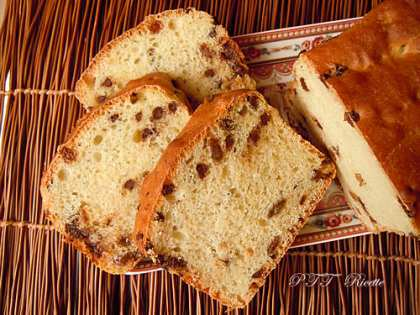 Pan Brioche light con uvetta e cioccolato