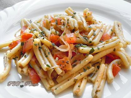 Pasta scalogni e pomodori dietetica