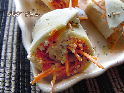 Piadina con ricotta e carote